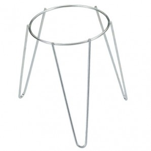 Galvanised Freestanding Plant Pot Foot Stand 18 cm