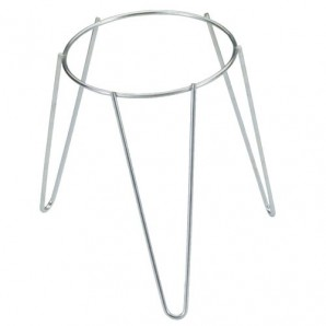 Galvanised Freestanding Plant Pot Foot Stand 22 cm