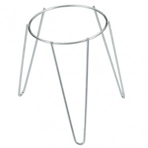 Galvanised Freestanding Plant Pot Foot Stand 24 cm