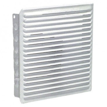 Fitted 17x17 cm ventilation grille. white lacquer