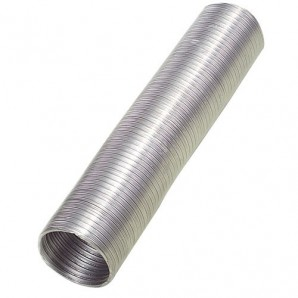 Compact Aluminium Tube Grey Ø 100 mm. / 5 metres