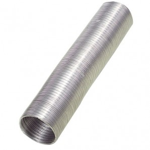 Compact Aluminium Tube Grey Ø 125 mm. / 5 metres