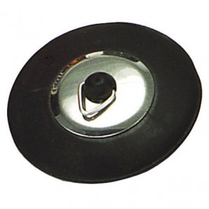Rock Type Rubber Stopper With Flange Tab 44 mm.