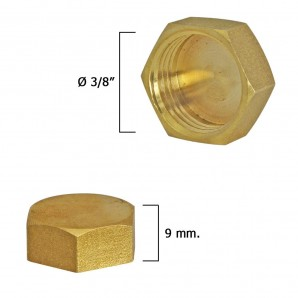 Blind Plug Female Brass 3/8""