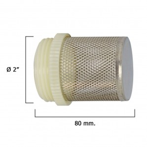 Stainless Steel Filter For Retention Valve 2""