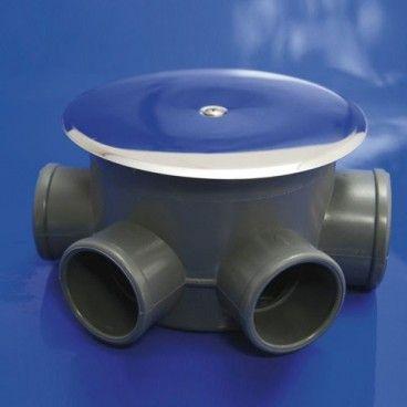 Siphon de maison PVC T-85-C 110 50-40 hauteur 69mm.