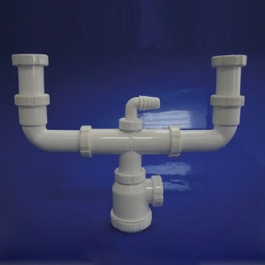 Double sump fitting T-45 1 1/2