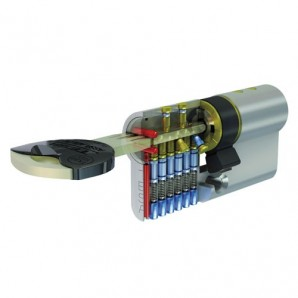 Cylinder Tesa security Tx85/60/Brass plated.