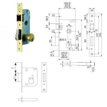Tesa lock 2001-hl/40