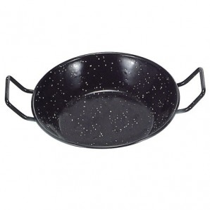 32-cm Enamelled Double Deep Pan With Handles.