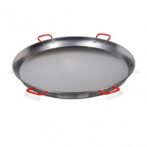 115-cm Valencian paella pan. Polished for 120 People