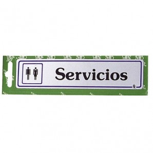 "Placard ""Lavatories"""
