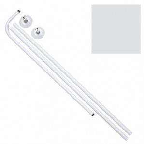 Curved Bathroom Rail 18 mm (80 x 80 To 122) White