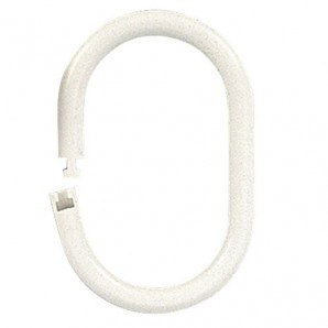 Oval-shaped Bathroom Ring 18 mm (Bag of 100 units) white