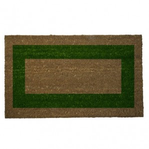 Doormat Oryx Fibre Coconut Green Stripes 45x75 cm.