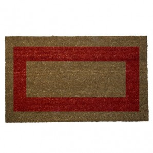 Doormat Oryx Fibre Coconut Red Stripes 40x60 cm.