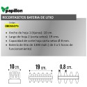 Recortasetos Papillon Bateria Litio 100 mm.