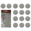 Tapatornillos Adhesivos Gris (Blister 20 unidades)
