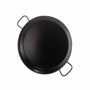 6-person / 34-cm Enamelled Valencian Paella Pan.