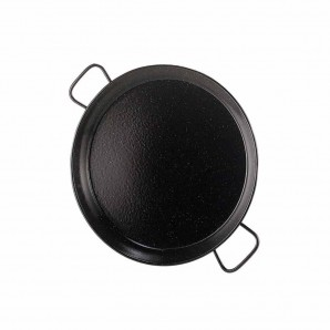 4-person / 30-cm Enamelled Valencian Paella Pan