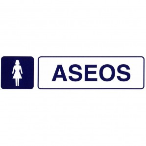 Adhesive Label 250x63 mm. Ladies? Toilets