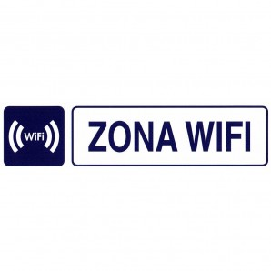 Rotulo Adhesivo 250x63 mm. Zona Wifi