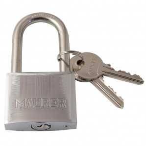 Maurer Stainless Steel Padlock Long Shackle 30 mm.