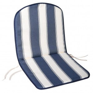Blue/White Chair Cushion For Monoblock Low Back Chair 80x42x2 cm.
