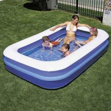 Rectangular Inflatable Pool 262x175x51cm.