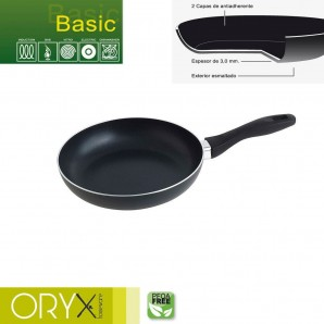Basic Aluminium Non-stick Frying Pan 22 cm. / 3 mm.