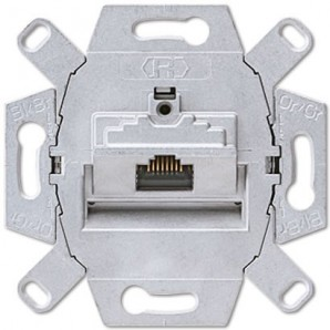 JUNG LS 990 - Toma RJ45 categoría 6 Clase A JUNG UAE 8 UPOK6