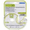 Cinta Celo Adhesivo Transparente 18 mm. x 33 Mts. Con Dispensador.