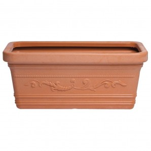 Macetero Terracota Resina Rectangular 80x40 cm.