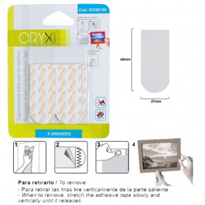 Comprar Adhesive strips Double Sided No Residue (Blister pack of 6 pieces ) online