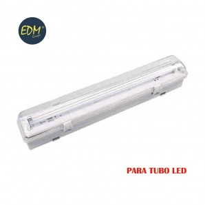 Regleta estanca para tubo led eq 1x18w 65 cm EDM ip44