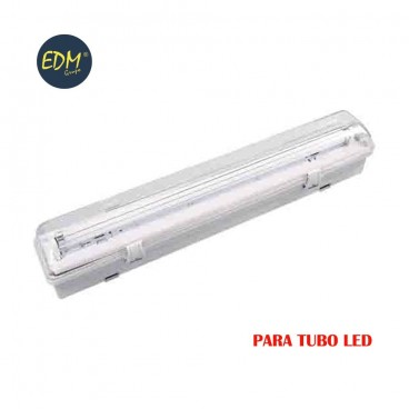 Regleta estanca para tubo led eq 1x36w 123 cm EDM IP44