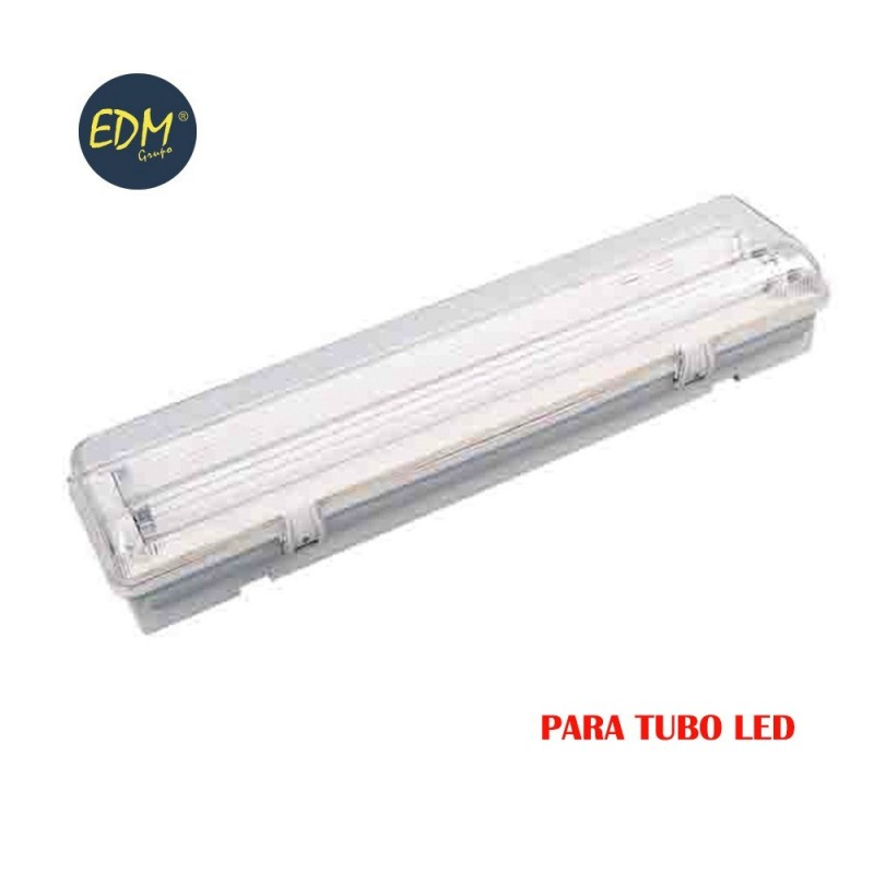 Regleta estanca para tubo led eq 2x36w 125 cm EDM ip44
