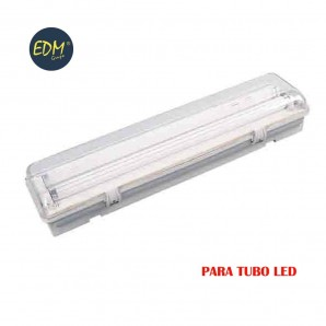 Regleta estanca para tubo led eq 2x58w 155 cm EDM IP44