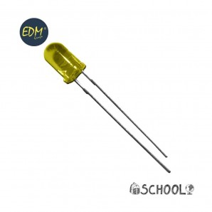 L'artisanat - Diodo led amarillo 5mm (manualidades) 1,9v