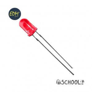 Diodo led rojo 5mm (manualidades) 1,9v