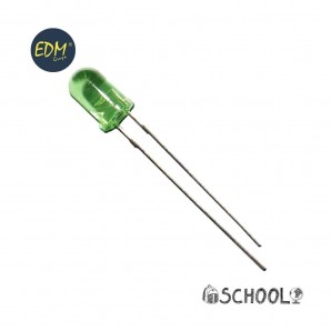 Diodo led verde 5mm (manualidades)  3,2v