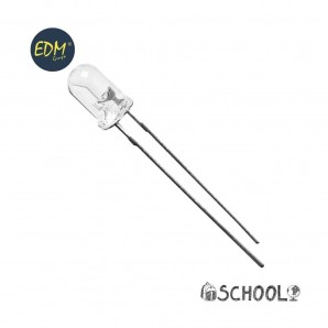 Comprar Diodo led blanco 5mm (manualidades) alta luminosidad 4,8v online