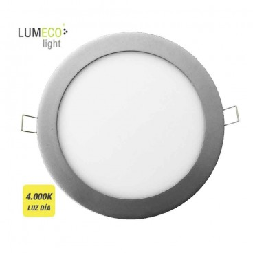 Downlight LED empotrable redondo 20W 4000K 1500lm cromo mate Lumeco 31573