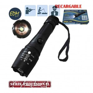 Rechargeable flashlight zoom 1 SuperLED 10w create xml-t6