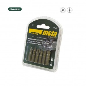 Key sets - Juego 6 puntas ph 1-2-3 pz 1-2-3 x 50mm bpj2