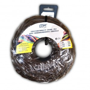 Parallel textile braided 2x1 brown 25m