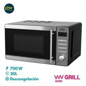 Kitchen appliances - Microondas 20l cromado 700w con grill EDM