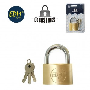 Brass padlock normal arch blister 40x23mm