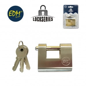Padlock brass reinforced safety blister 50,5x48,5x20mm