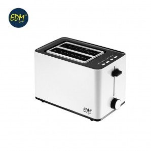Toaster 850w dual slot white design EDM